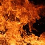 détail de flammes de feu — Photo