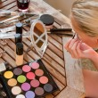 Make up process — Stockfoto