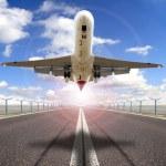 boven de start-en landingsbaan — Stockfoto