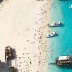 Navagio beach — Stock Photo