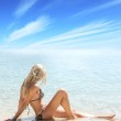 Relax on beach — Stock Photo