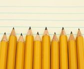Yellow pencil border — Foto de Stock