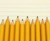 Frontière de crayon jaune — Photo