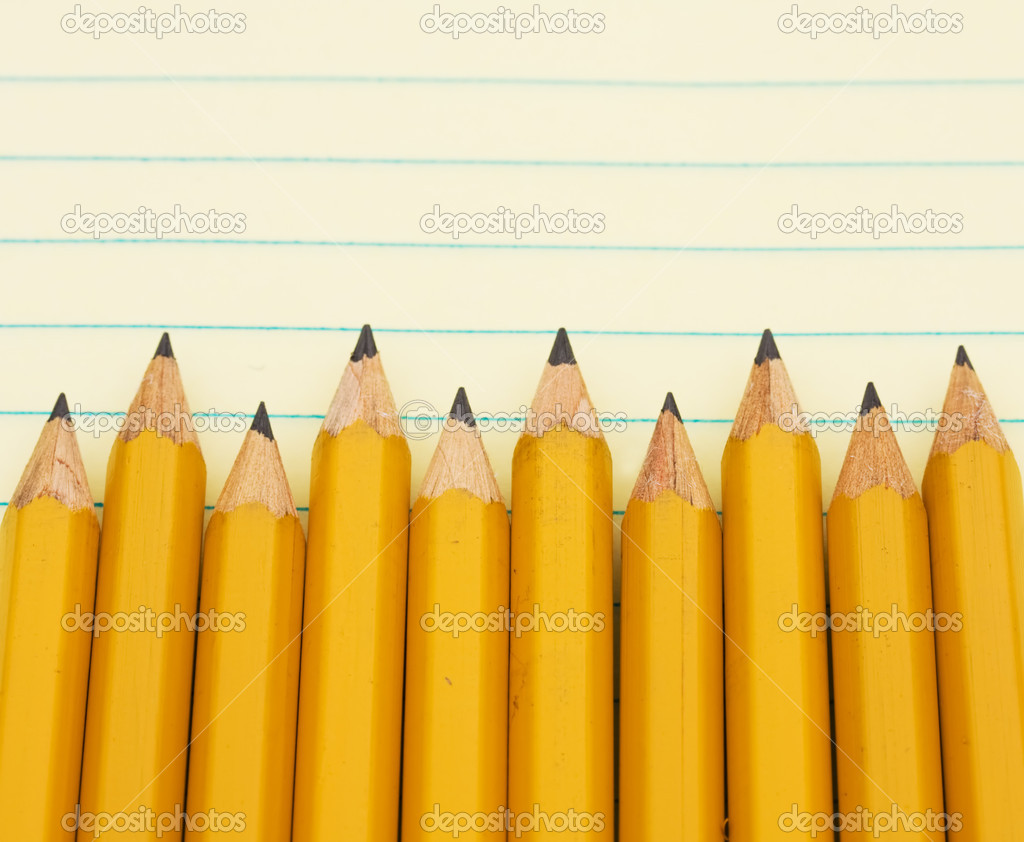 A yellow pencil border on a Yellow Pencil Border