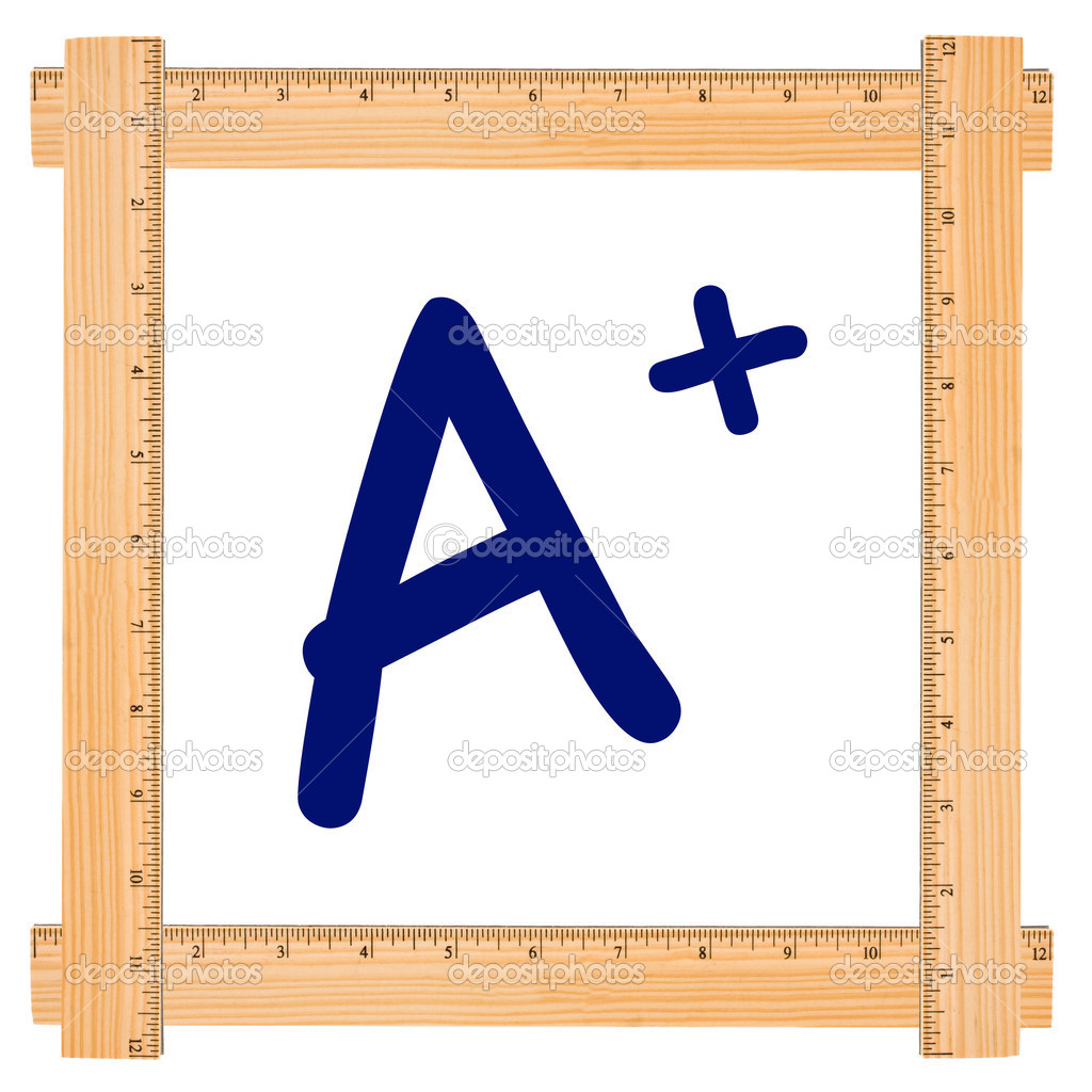good grades stock photo copy karenr  the letter a in a wood ruler frame isolated on white good grades photo by karenr