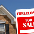 Stock Photo: Foreclosure House For Sale