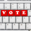 Stock Photo: Voting on internet