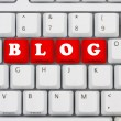 Stock Photo: Blogging on internet