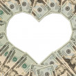 Money Heart — Stock Photo