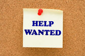 Help Wanted — Stock Photo