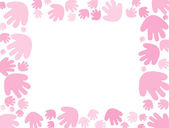 Baby pink handprint Background — Stock Photo