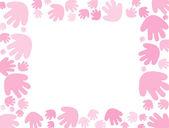 Baby pink handprint Background — Stock Photo