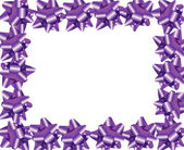 Purple Ribbon Border — Stock Photo