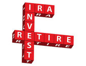 IRA, Invest and Retire — Stock Photo