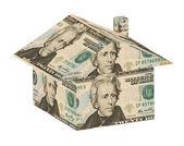 Geld huis — Stockfoto