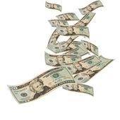 Floating Money — Stock Photo