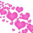 Pink Heart Background — Stock Photo #6323696