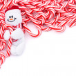 Candy Cane Border — Stock fotografie