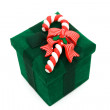 Green Christmas Present — Stock Photo
