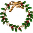 Foto Stock: Holly Wreath