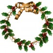 Holly Wreath - Stock Photo