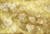 Gold Heart Background — Stock Photo