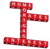 Hypotheken-zinssätze — Stockfoto