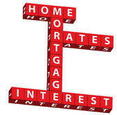 Home mortgage interest rates — Stock Photo