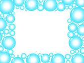 Blue Bubble Background — Stock Photo