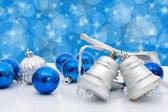 Christmas Balls and Bells — Stock Photo