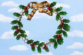Holly Wreath — Stock Photo