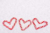 Candy Cane Heart — Stock Photo