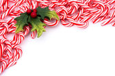 Candy cane grenze — Stockfoto