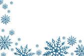 Snowflake Border — Stock Photo
