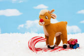 Candy Cane Sleigh — Stock Photo