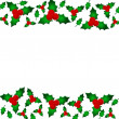 Holly Berry Border — Foto de Stock