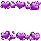 Fond coeur violet — Photo