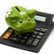 Calculating your savings — Stock Photo