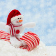 Snowman having fun — Stock Photo #6400369