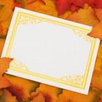 Autumn message — Stock Photo