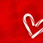 Candy trzciny serca — Zdjęcie stockowe