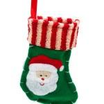 Cute Christmas stocking — Stock Photo