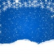 Stock Photo: Snowflake background