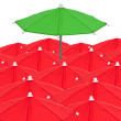 Red umbrellas — Stock Photo #6402828