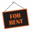 Classic For Rent Sign — Stock Photo