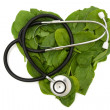 Heart Friendly Super Food Spinach — Stock Photo