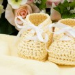 Yellow Baby Booties — Stock Photo #6403788
