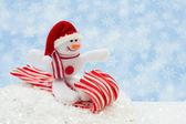 Snowman having fun — Stock Photo