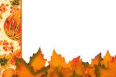 Fall leaves border — Stock Photo