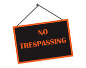 Classic No Trespassing Sign — Stock Photo